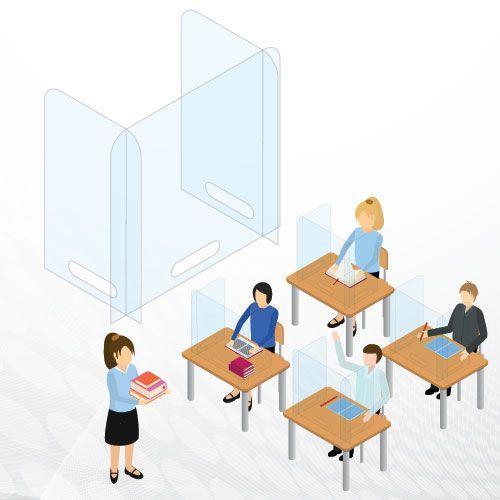 OCP Student Desk Barriers
