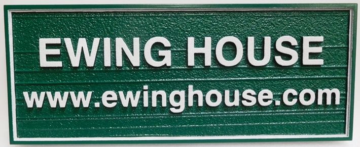 "T29157 - Carved and Sandblasted Wood Grain Sign for the ""Ewing House"", 2.5-D"