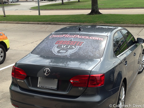 Rear Car Window Wrap