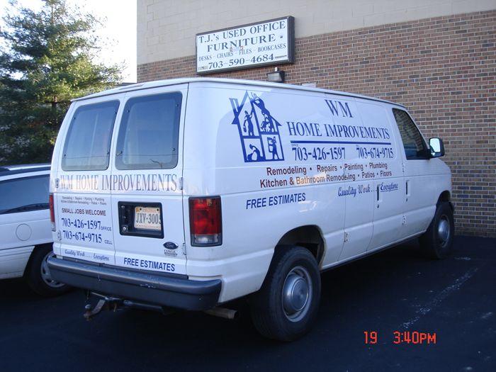 WM Home Improvements Van Lettering
