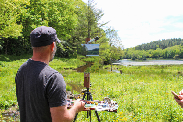 Jeremy Sams leading a workshop at the 2019 Blowing Rock Plein Air Festival
