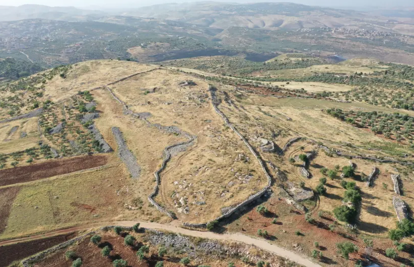 Prophet Joshua's Mount Ebal altar site harmed by Palestinian road work