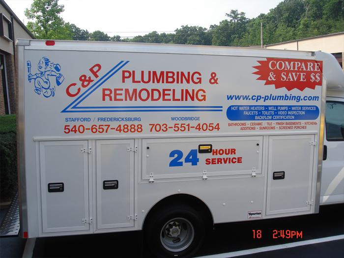 C&P Plumbing Truck Graphics