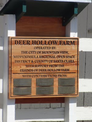 M3072 -  Carved Redwood  Sign with Engraved Lettering: Friends of Deer Hollow Farm with Contributors' Plaques (Gallery 16)