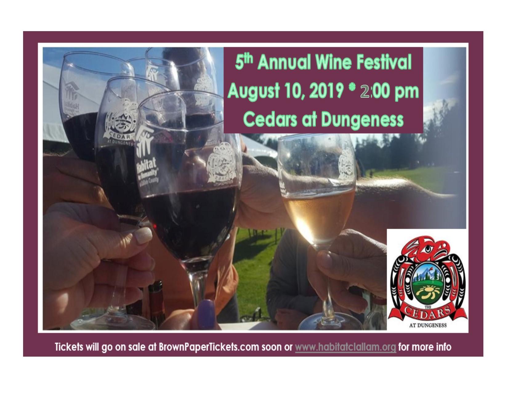 5th Annual Wine Festival-August 10, 2019 2:00pm~6:00pm