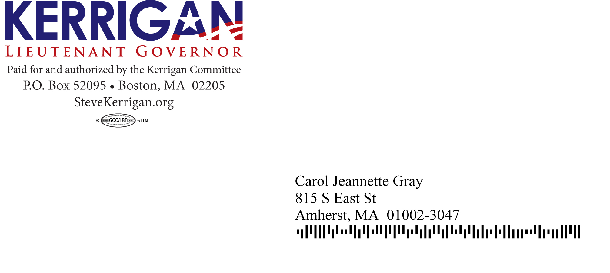 Mailing 1 Envelope