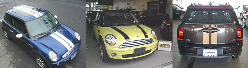 MINI Coopers with Stripes
