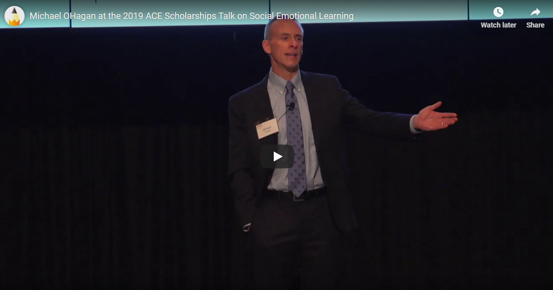 Michael O'Hagan at 2019 ACE Scholarships Talk on Social Emotional Learning