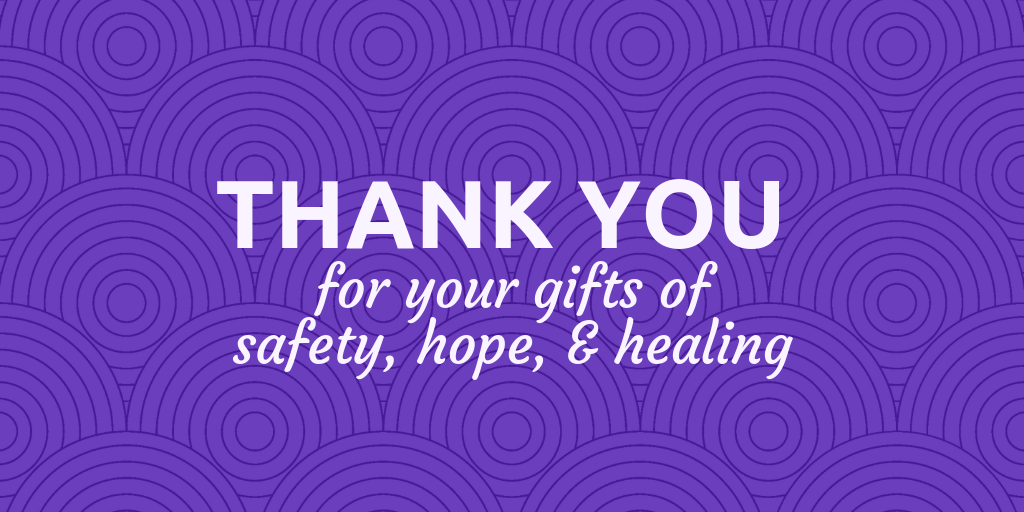 Many thanks to everyone who supported the Purple Purse Challenge!