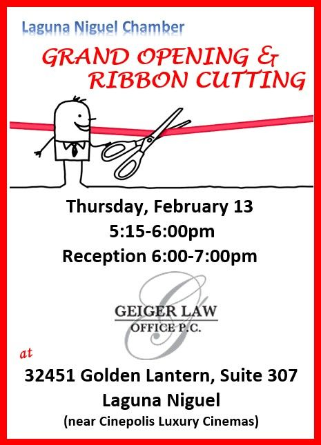 Geiger Law Office, PC - Grand Opening & Ribbon Cutting