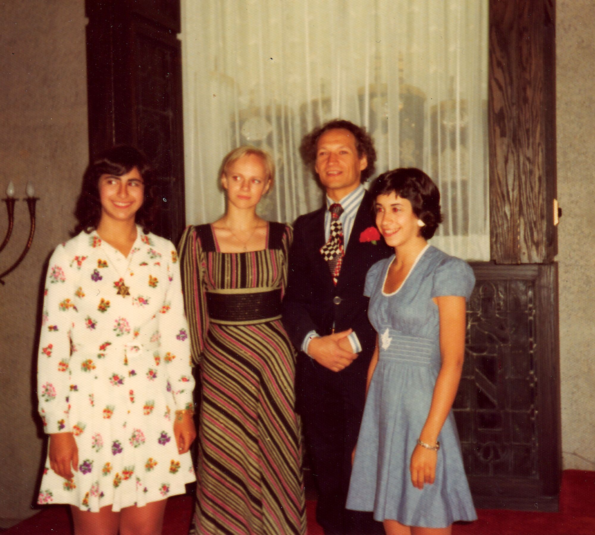 L-R: Beth Huppin, Galina Panova, Valery Panov, Lisa Low