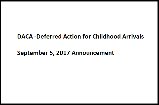 DACA Announcement