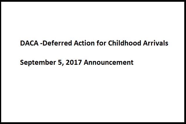 DACA Announcement