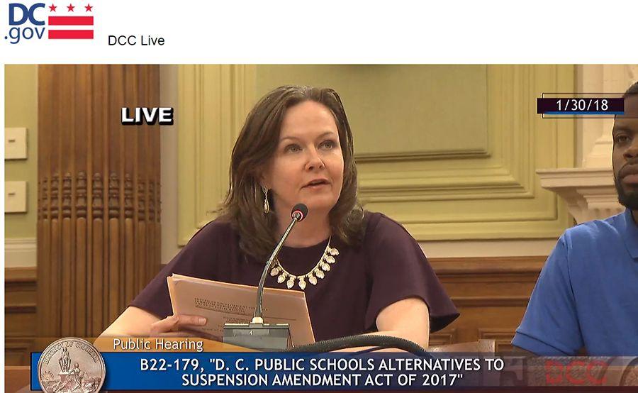 Jamila Larson testifying