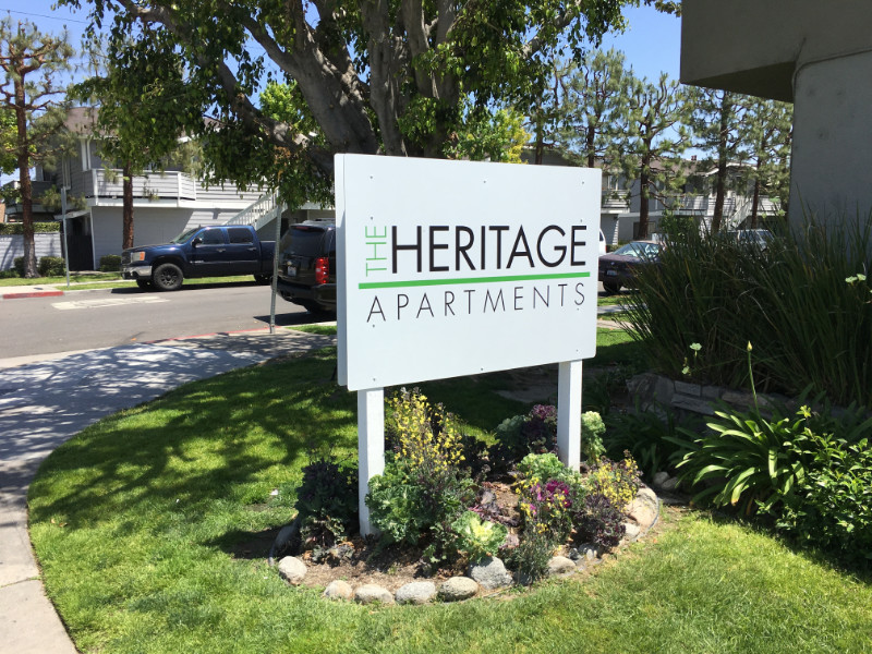 Post and Panel Apartment Complex Signs Anaheim CA