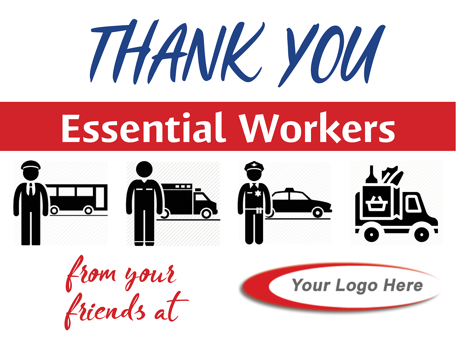 Essential Workers Thank You