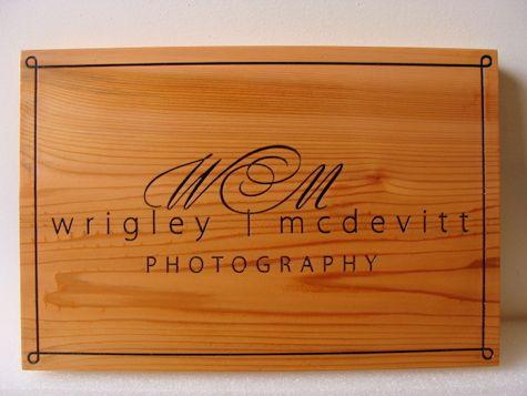 SA28007 - Carved Cedar Wood Sign for a Photographic Studio