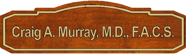 B11054 - Carved Wood Physician's Name Plaque