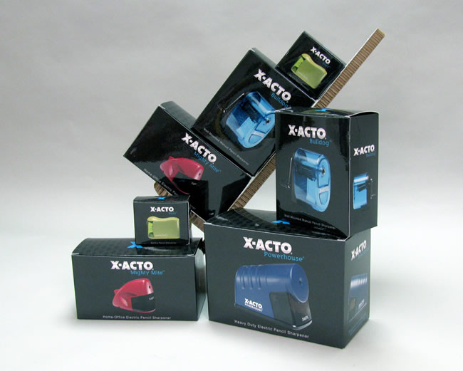 X-ACTO pencil Sharpener product boxes