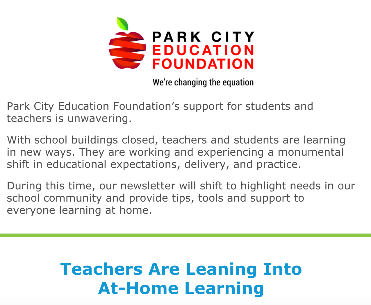 PCEF Newsletter April 2020