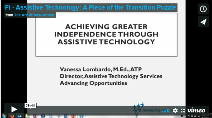 Assistive Technology: A Piece of the Transition Puzzle
