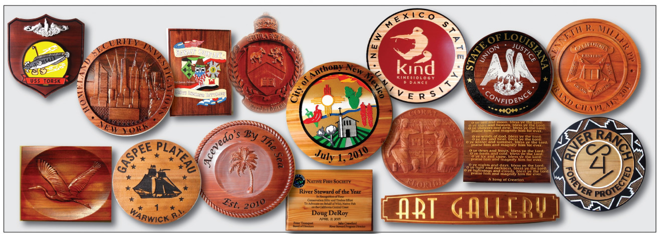 Hand-crafted, highest quality carved wood wall plaques