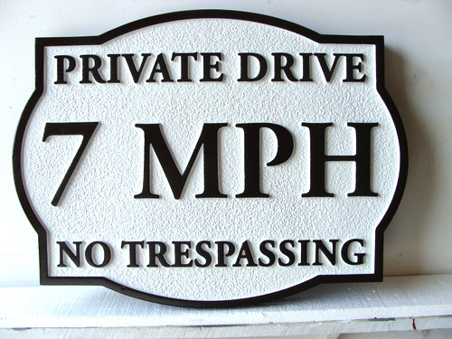 KA20678 - Custom Wood Speed Limit Sign for Residential Streets