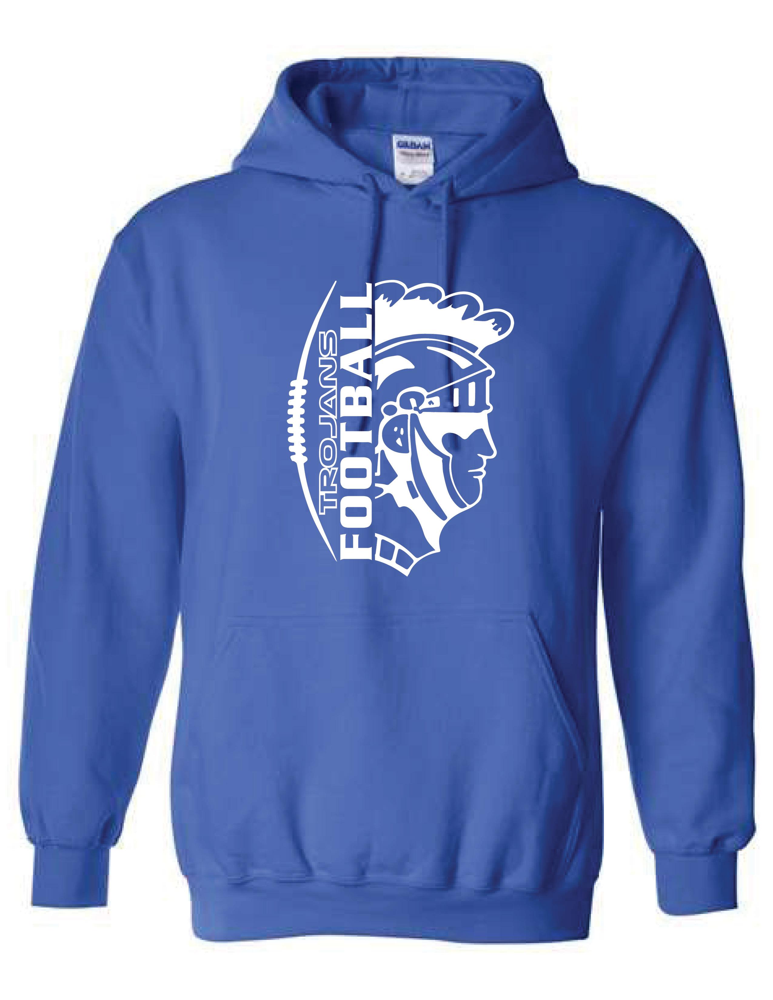Hooded Sweatshirt  (TROJAN)