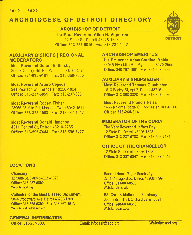 2019-2020 Archdiocesan Directory