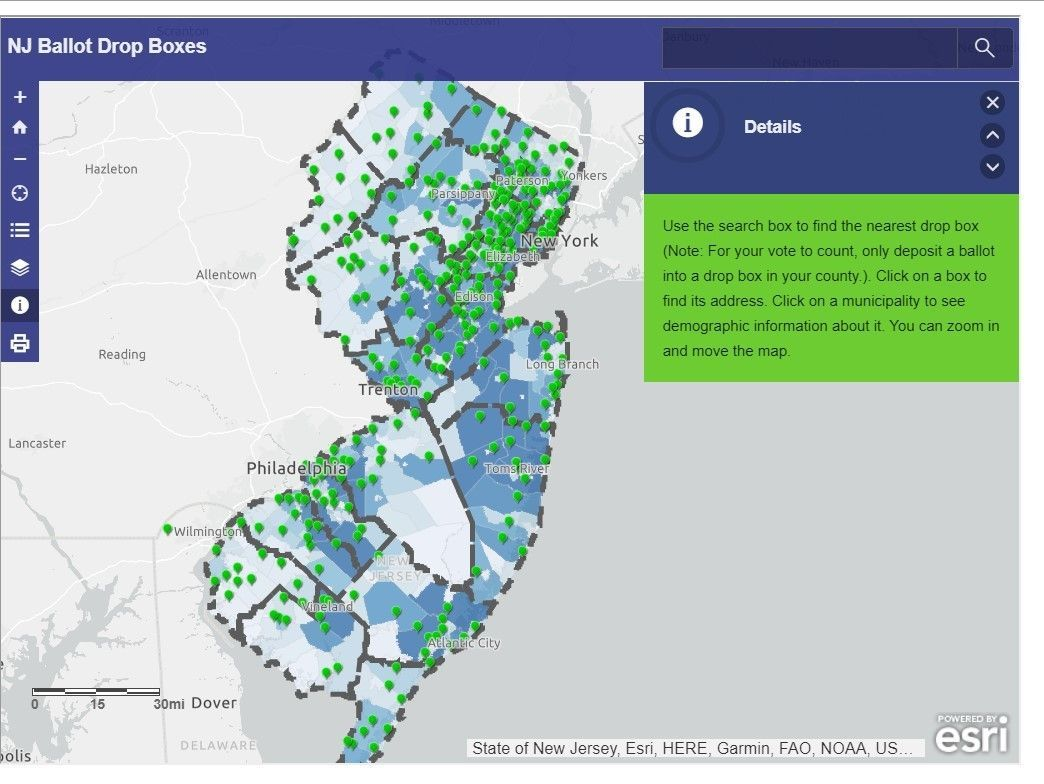 Looking for a ballot drop box? Check out this map for a spot near you.