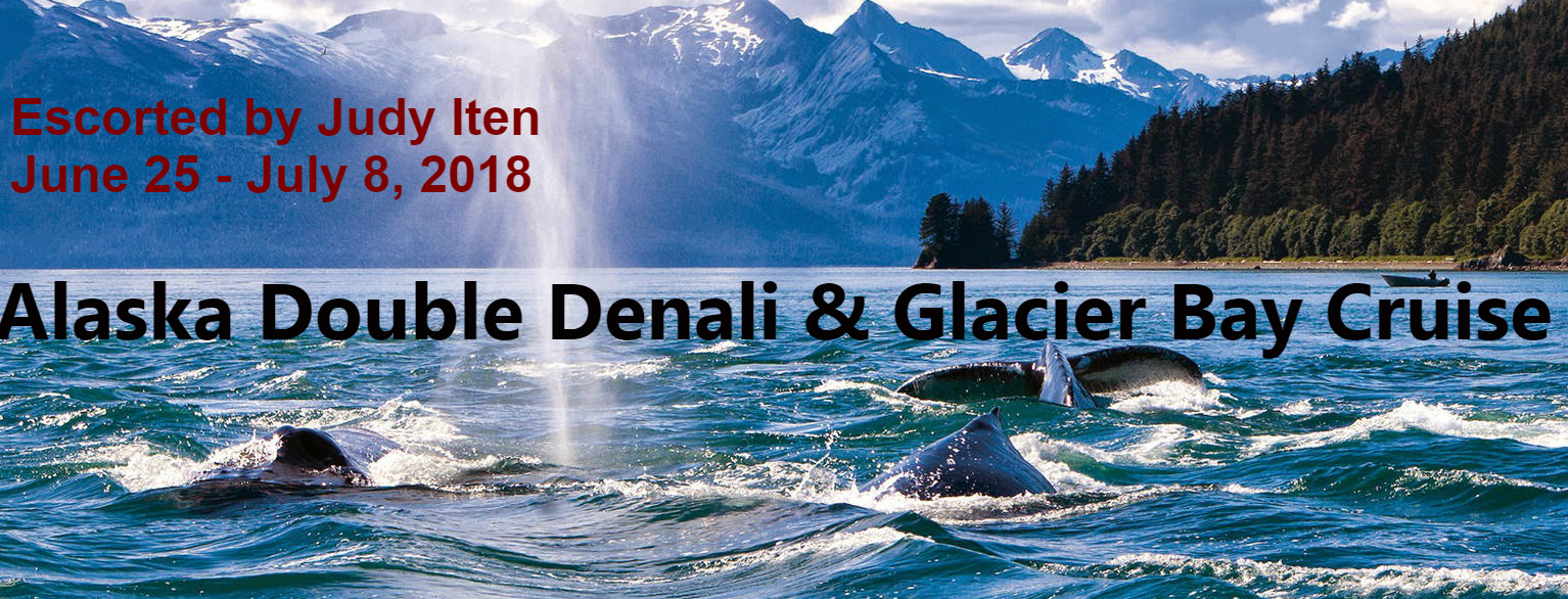 Alaska Double Denali & Glacier Bay Cruise June 25, 2018