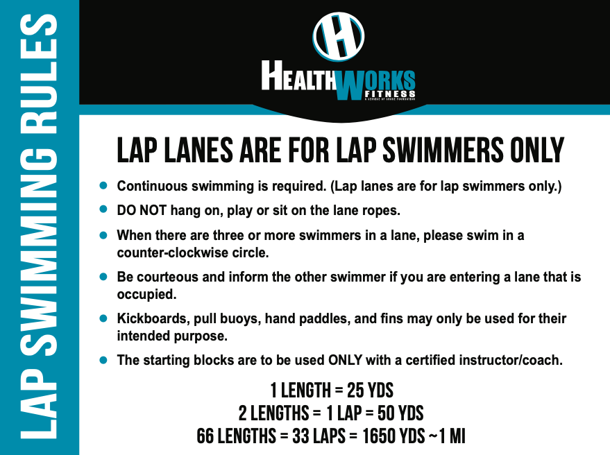 Lap Swimming Rules