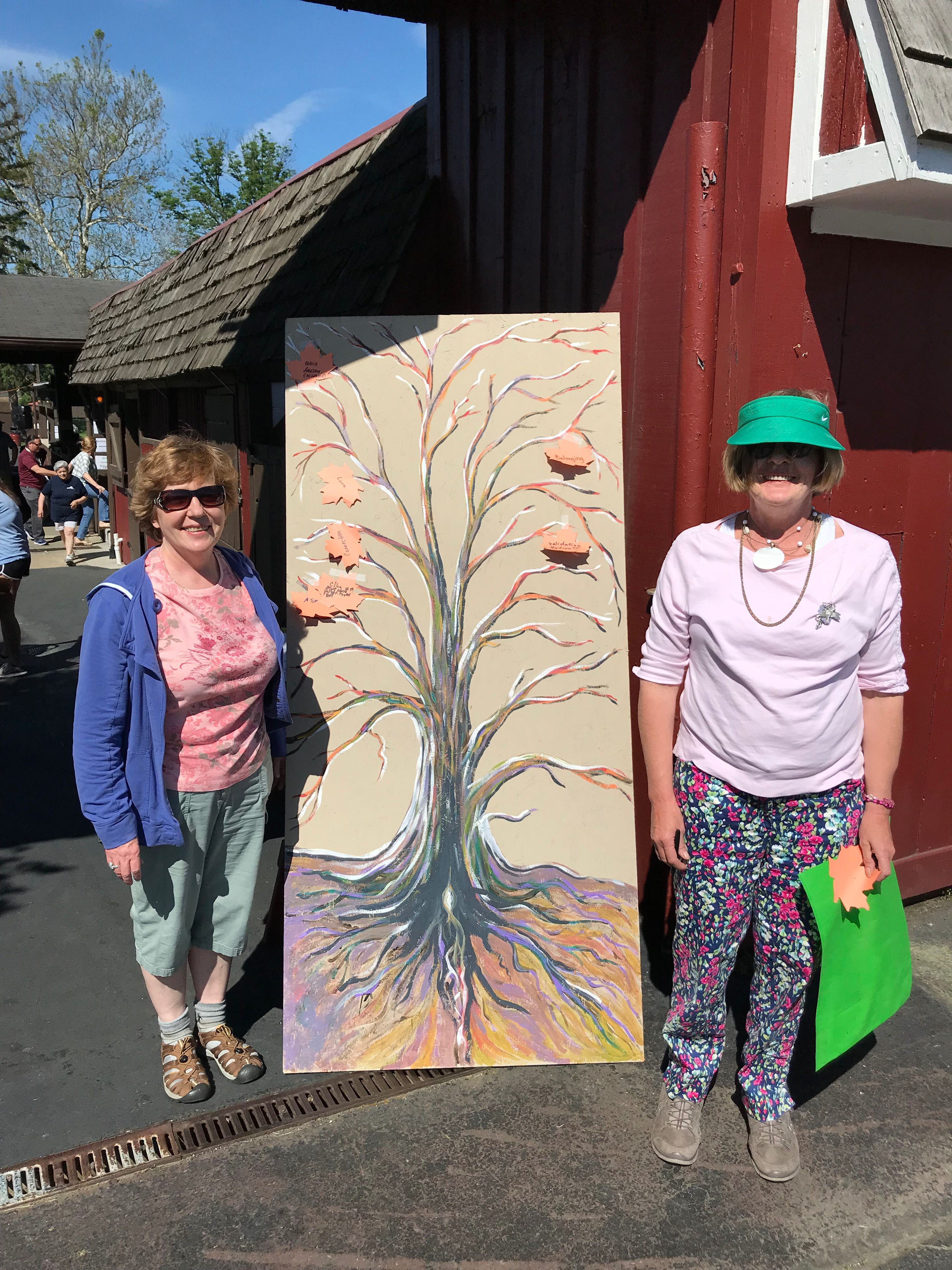 Ellen & Monica Kozlowski with the Tree of Life