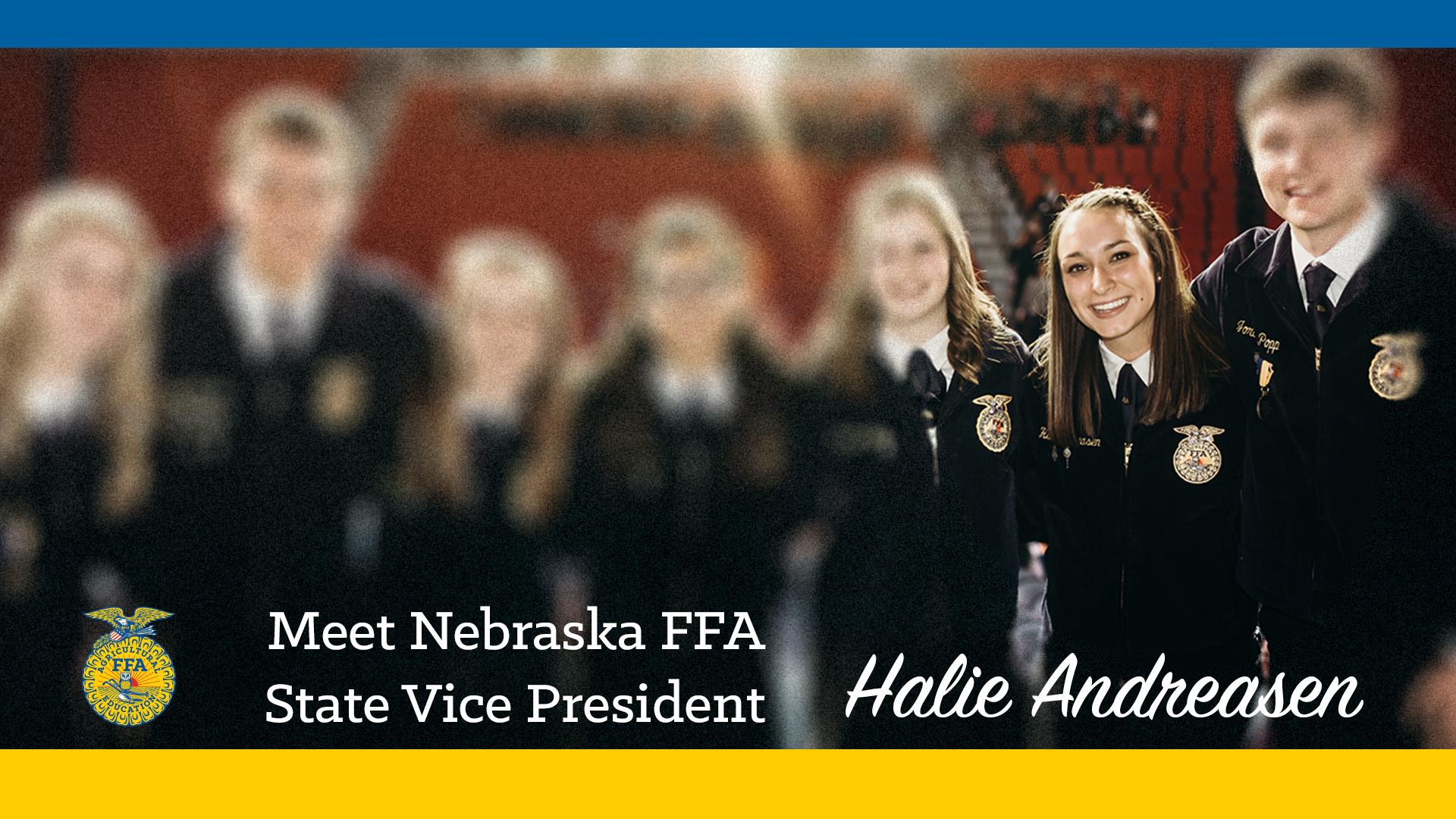 Meet 2018-19 Nebraska FFA Vice President: Halie Andreasen