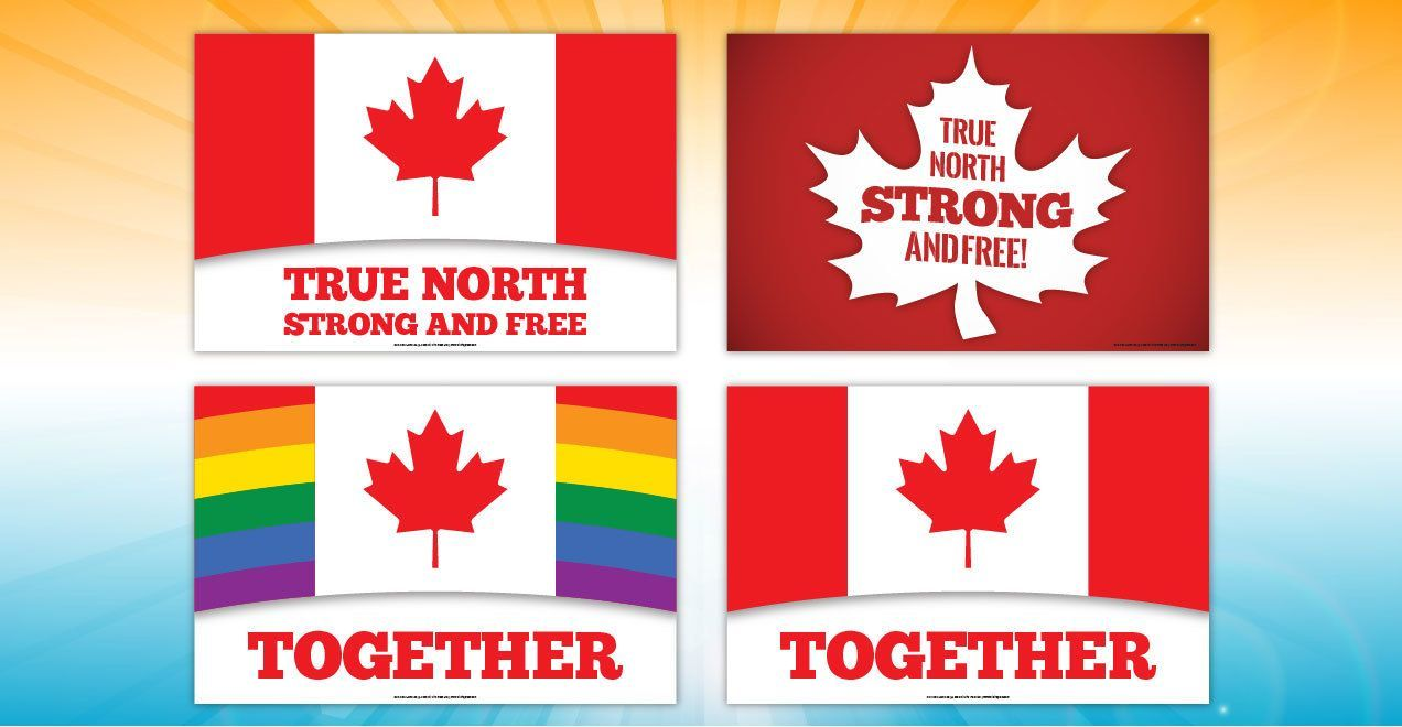 Canada Day Lawn Signs