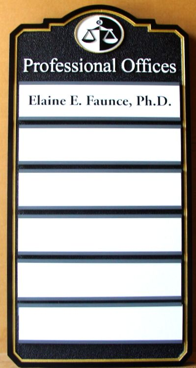 A10687 –Multiple Attorney Directory Sign, with Changeable Names