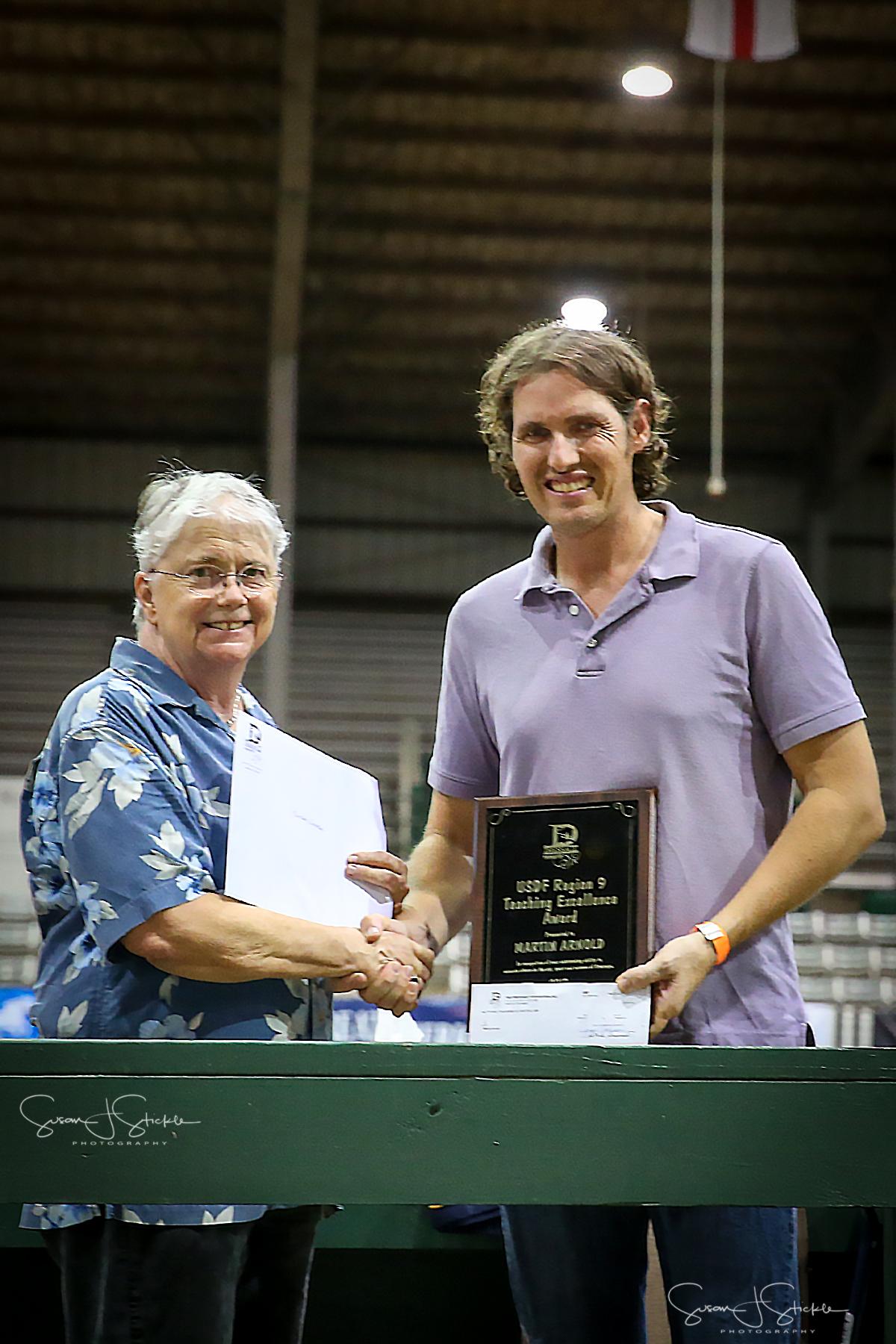 Martin Arnold Awarded TDF's  2017 USDF Region 9 Teaching Excellence Award