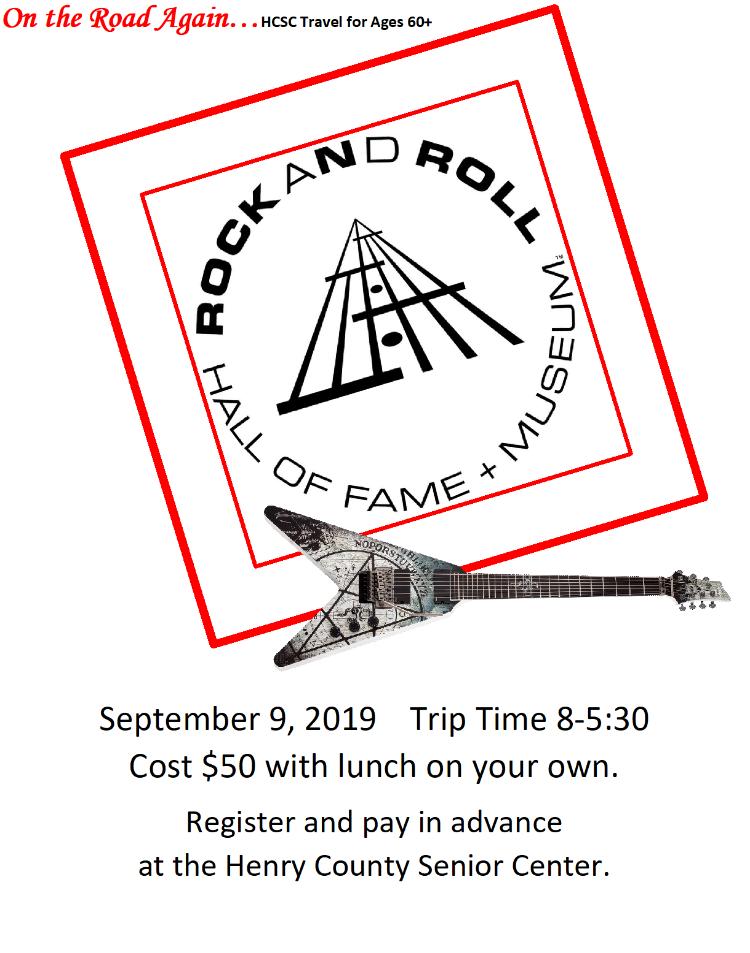 Sept. 9 Rock N Roll Hall of Fame