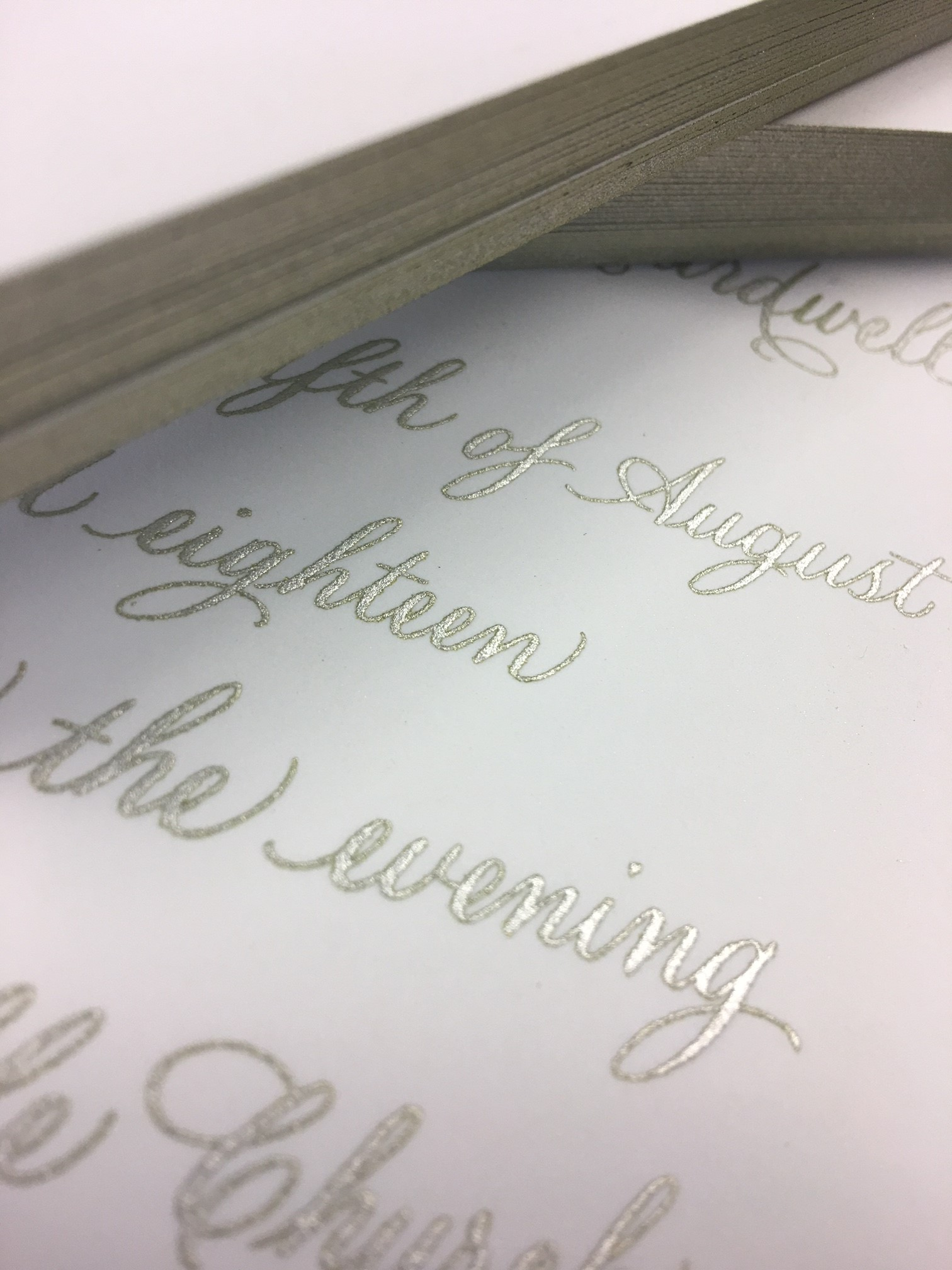 Wedding Invitations - Silver Package