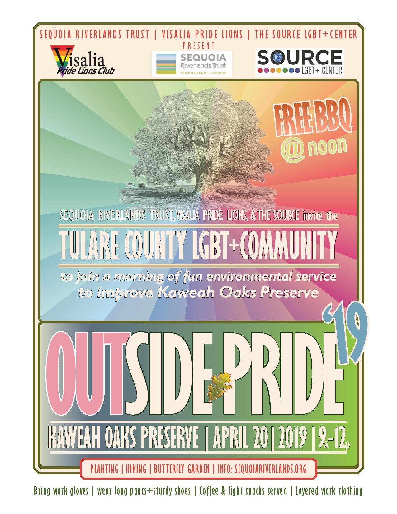 OUTside Pride '19 this Saturday at Kaweah Oaks