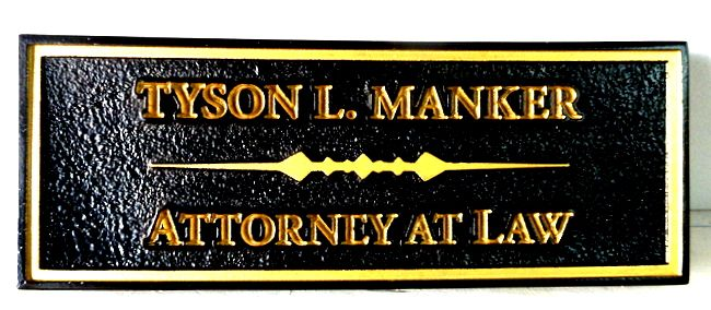 A10334 - Sandblasted HDU Attorney Wall or Door Sign