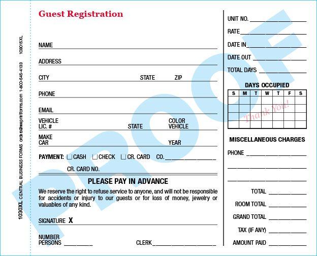 Standard 1030XL Form