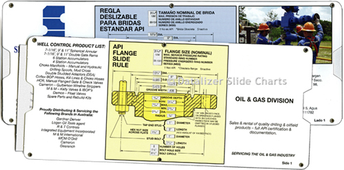 API Flange Slide Rule