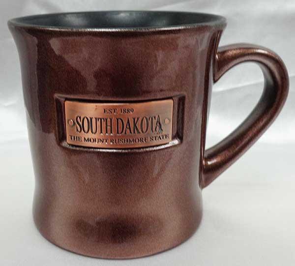 South Dakota Plaque Mug (bronze)