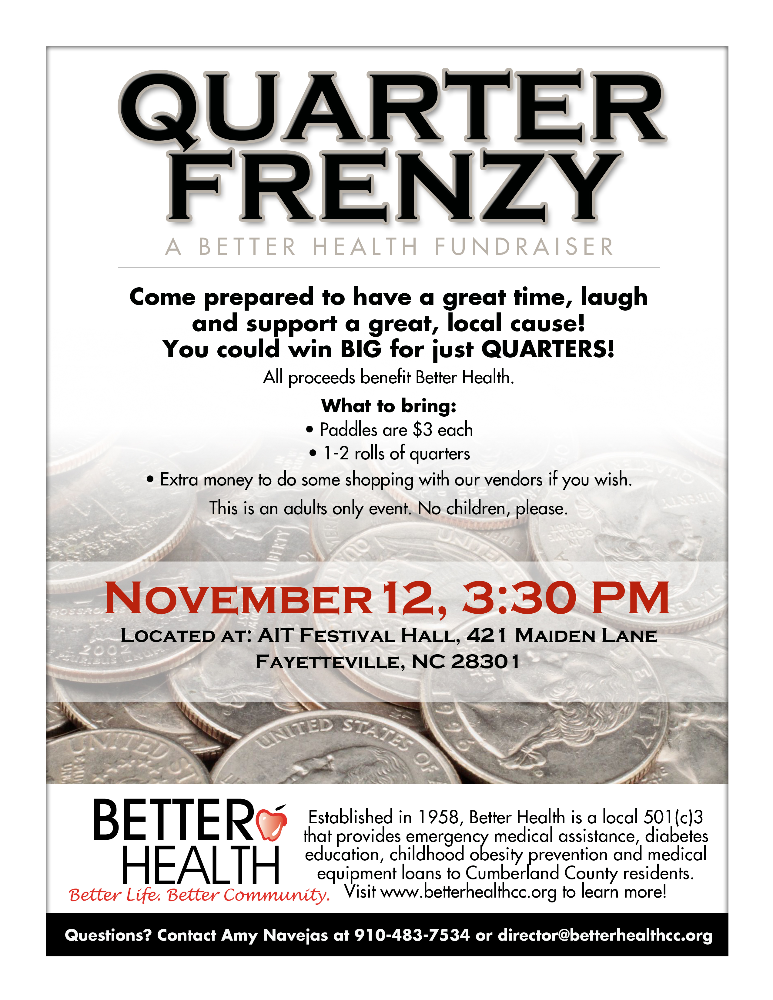 Quarter Frenzy to benefit Better Health