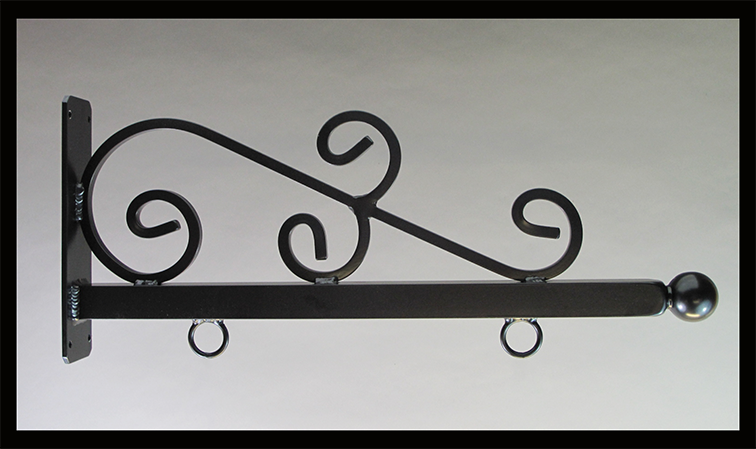 M4070 - Designer Scroll bracket Mounted in Wall