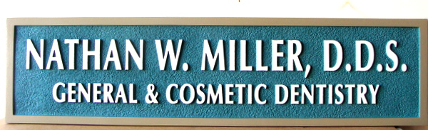BA11653 - Carved, Sandblasted Wall or Door Sign for General and Cosmetric Dentistry Office