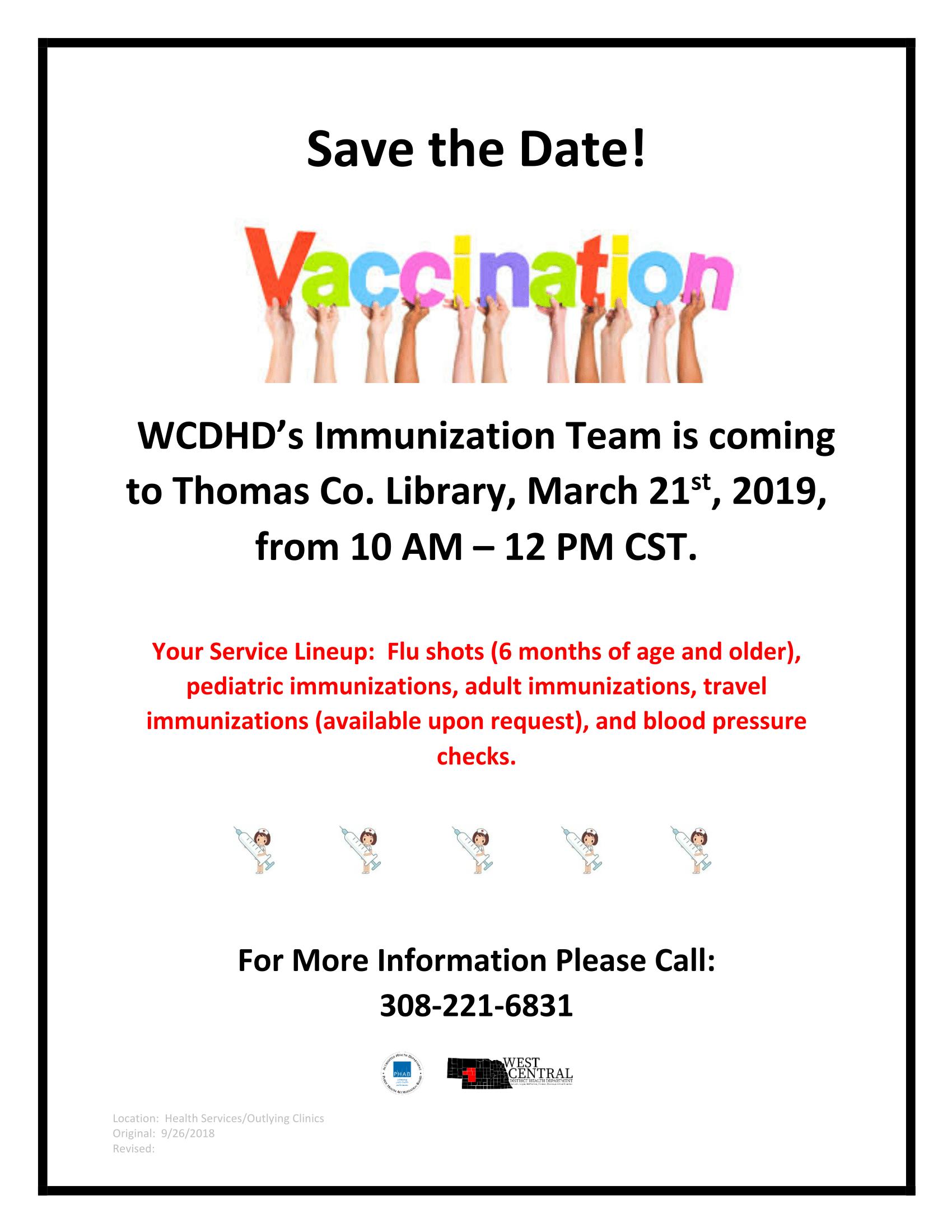 Thedford Immunization Clinic