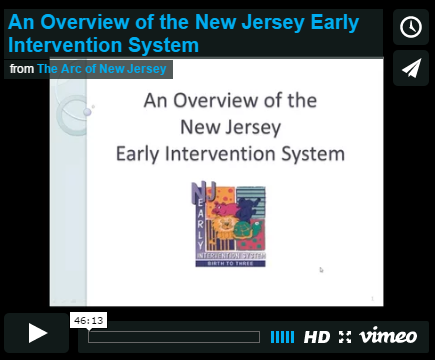 An Overview of the New Jersey Early Intervention System