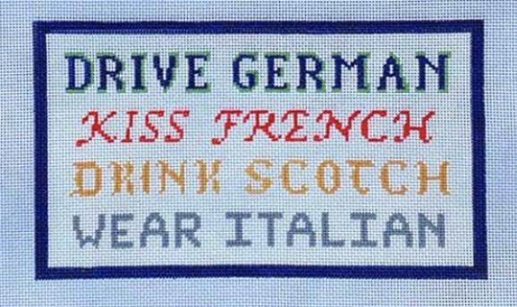 Drive, Kiss, Drink, Wear